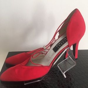 Stuart weitzman shoes 8.5 satin red